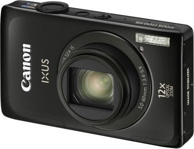 Компактный фотоаппарат Canon IXUS 1100 HS Black - Вид спереди