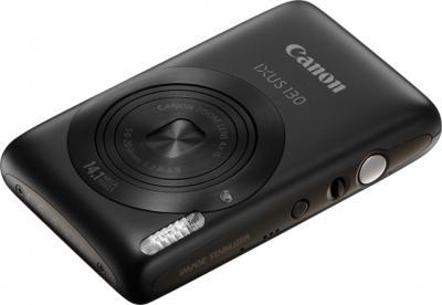 Компактный фотоаппарат Canon Digital IXUS 130 / PowerShot SD1400 IS (черный) - Вид спереди