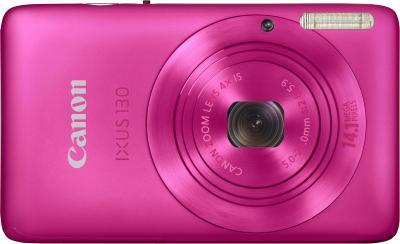 Компактный фотоаппарат Canon Digital IXUS 130 / PowerShot SD1400 IS (розовый) - Вид спереди