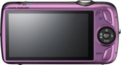 Компактный фотоаппарат Canon Digital IXUS 200 IS Purple - вид сзади