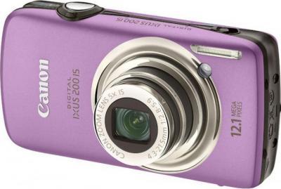 Компактный фотоаппарат Canon Digital IXUS 200 IS Purple - общий вид