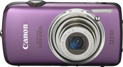 Компактный фотоаппарат Canon Digital IXUS 200 IS Purple - вид спереди