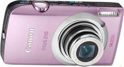 Компактный фотоаппарат Canon Digital IXUS 210 IS (PowerShot SD3500 IS) Pink - Вид спереди