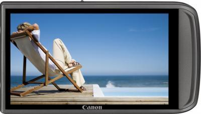 Компактный фотоаппарат Canon Digital IXUS 210 IS (PowerShot SD3500 IS) Pink - Вид сзади