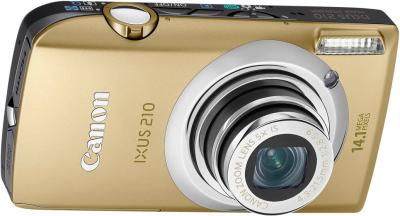 Компактный фотоаппарат Canon Digital IXUS 210 IS (PowerShot SD3500 IS) Gold - Вид спереди