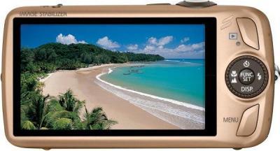 Компактный фотоаппарат Canon Digital IXUS 210 IS (PowerShot SD3500 IS) Gold - Вид сзади