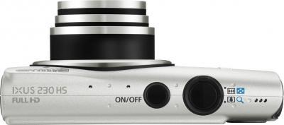 Компактный фотоаппарат Canon IXUS 230 HS Silver - Вид сверху