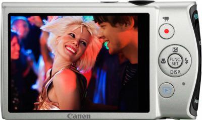Компактный фотоаппарат Canon IXUS 230 HS Silver - Вид сзади