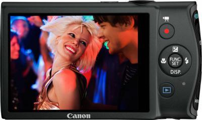 Компактный фотоаппарат Canon IXUS 230 HS Black - Вид сзади
