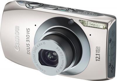 Компактный фотоаппарат Canon IXUS 310 HS Silver - Вид спереди