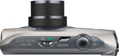 Компактный фотоаппарат Canon IXUS 310 HS Silver - Вид сверху