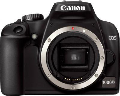 Зеркальный фотоаппарат Canon EOS 1000D Body - Вид спереди