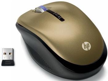 Мышь HP LP336AA Gold-Black USB - общий вид