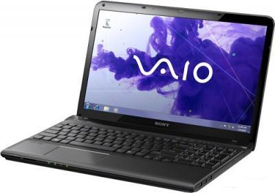 Ноутбук Sony SVE1511X1RB - Вид спереди сбоку