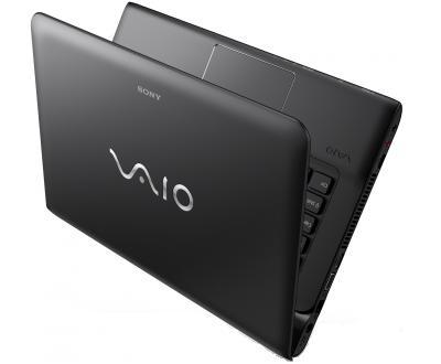 Ноутбук Sony SVE1711Q1RB - полуоткрытый