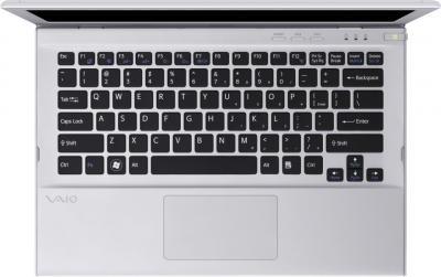 Ноутбук Sony SVT1311M1RS - сверху