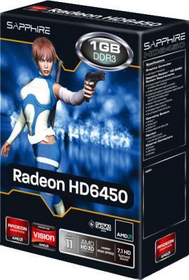 Видеокарта Sapphire HD 6450 1024MB DDR3 (11190-02-10G) - коробка