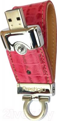 Usb flash накопитель Prestigio Leather Flash Pink 8 GB (PLDF08CRPKT3A)
