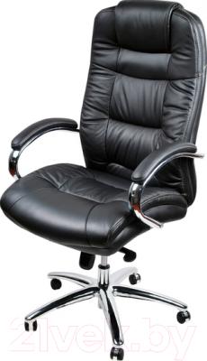 Кресло офисное Baldu visata Monterey (черный-хром, экокожа)