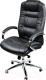Кресло офисное Baldu visata Monterey (черный-хром, экокожа) -