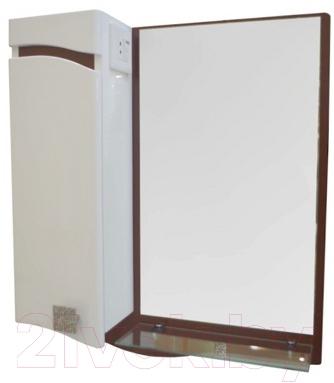 Шкаф с зеркалом для ванной Ванланд Симфония 1-50 (левый)