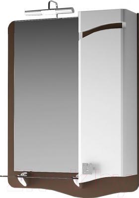 Шкаф с зеркалом для ванной Ванланд Симфония 1-80 (правый)