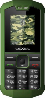 Мобильный телефон TeXet TM-509R (черно-зеленый) - общий вид