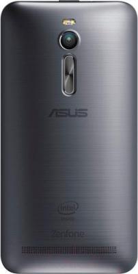 Смартфон Asus ZenFone 2 ZE551ML (серебристый) - вид сзади