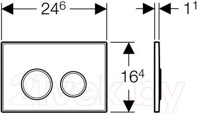 Кнопка для инсталляции Geberit Sigma 20 (115.778)