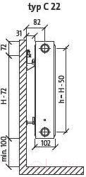 Радиатор стальной Purmo Compact C22 500x1100