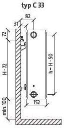Радиатор стальной Purmo Compact C33 500х1100
