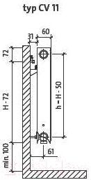 Радиатор стальной Purmo Ventil Compact CV11 400х400