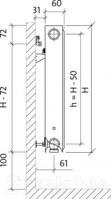 Радиатор стальной Purmo Ventil Compact CV11 500x800