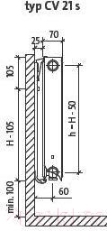 Радиатор стальной Purmo Ventil Compact CV21 500x700