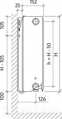 Радиатор стальной Purmo Ventil Compact CV33 500х400