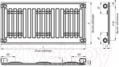 Радиатор стальной Лидея Тип 10 500х400