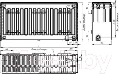 Радиатор стальной Лидея ЛК 11-510 / Тип 11 500x1000