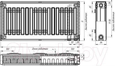 Радиатор стальной Лидея ЛК 21-510 / Тип 21 500x1000