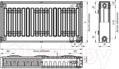 Радиатор стальной Лидея ЛК 21-504 / Тип 21 500x400