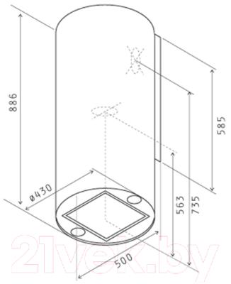 Вытяжка коробчатая Jetair Pipe BL/A/43