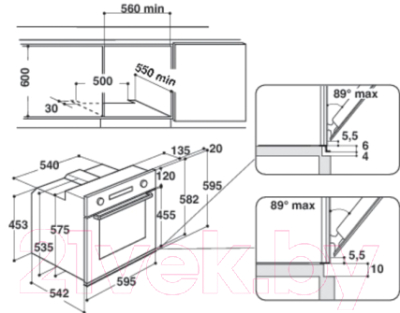 Электрический духовой шкаф Whirlpool AKP 744/IX