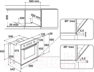 Электрический духовой шкаф Whirlpool AKP 745/IX