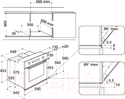 Электрический духовой шкаф Whirlpool AKZ 6220/IX