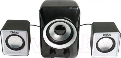Мультимедиа акустика Dialog Colibri AC-202UP (черно-белый) - общий вид