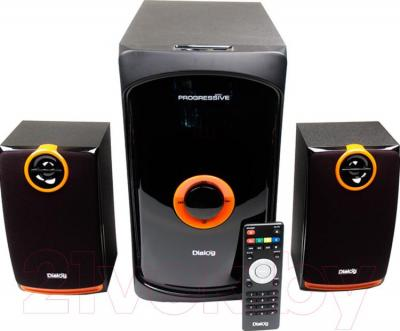 Мультимедиа акустика Dialog Progressive AP-200 (черный) - общий вид