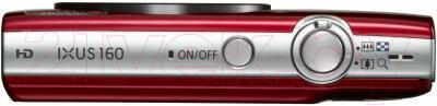 Компактный фотоаппарат Canon IXUS 160 (красный)