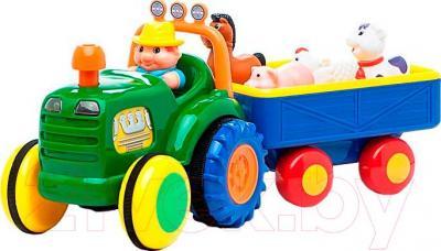 Игровой набор Kiddieland Трактор фермера с прицепом 049726
