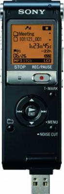Цифровой диктофон Sony ICD-UX512 Black - вид с USB-разъемом