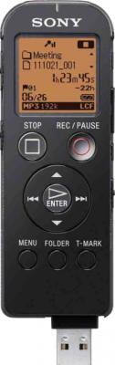 Цифровой диктофон Sony ICD-UX522 Black - общий вид