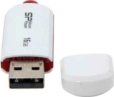 Usb flash накопитель Silicon Power LuxMini 320 16 Gb (SP016GBUF2320V1W) - без колпачка